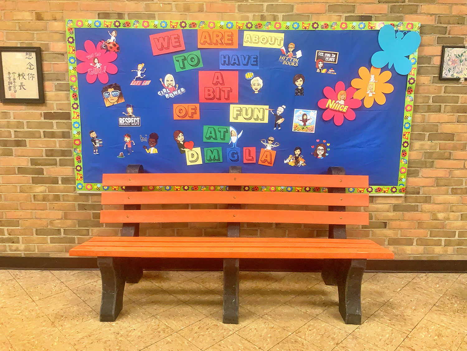 One of our buddy benches